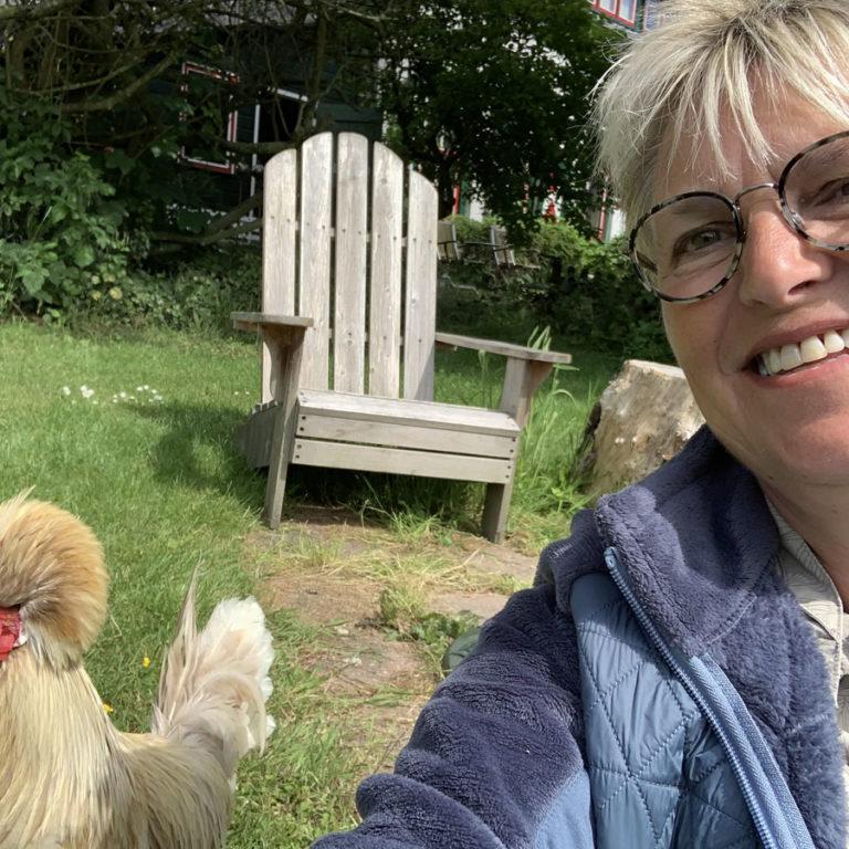 Selfie met de huiskip in De Bongerd