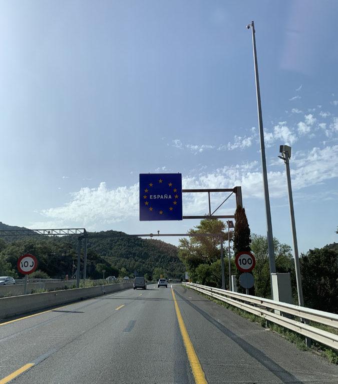 Entering Spain